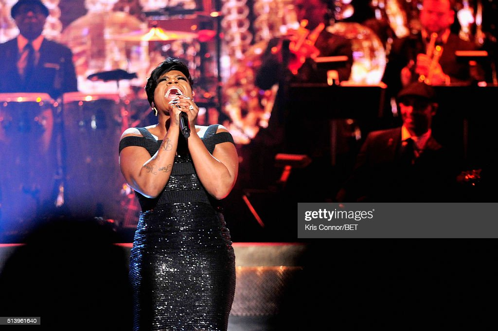 Singersongwriter Fantasia Barrino performs on stage during the BET Honors 2016 Show at Warner Theatre on March 5 2016 in Washington DC