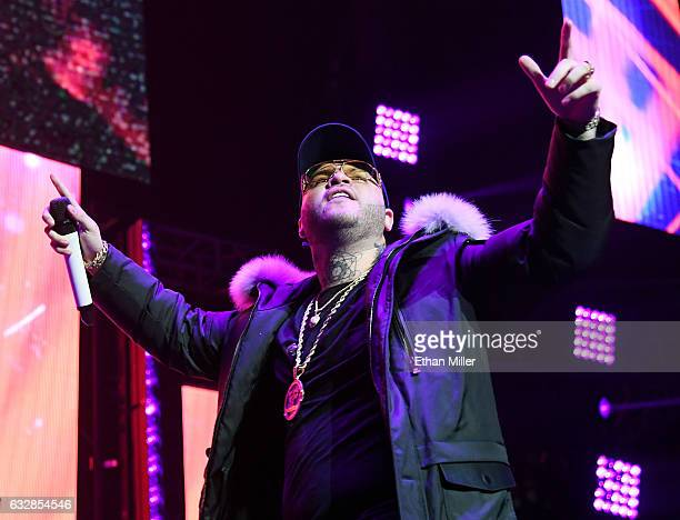 Singer/songwriter Farruko performs during Calibash Las Vegas at TMobile Arena on January 26 2017 in Las Vegas Nevada