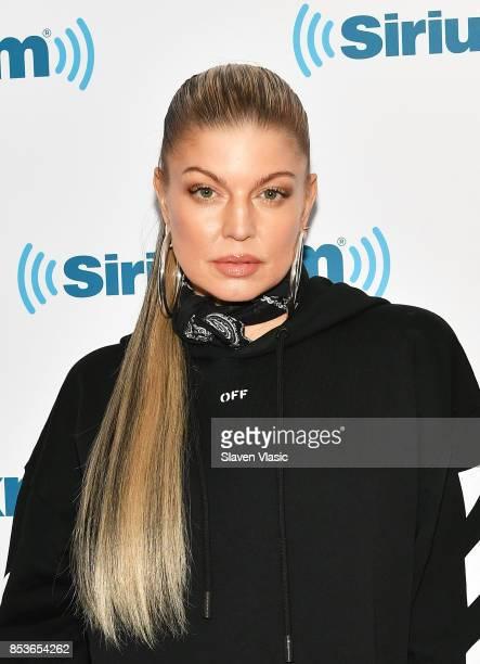 Singer/songwriter Fergie visits SiriusXM Studios on September 25 2017 in New York City