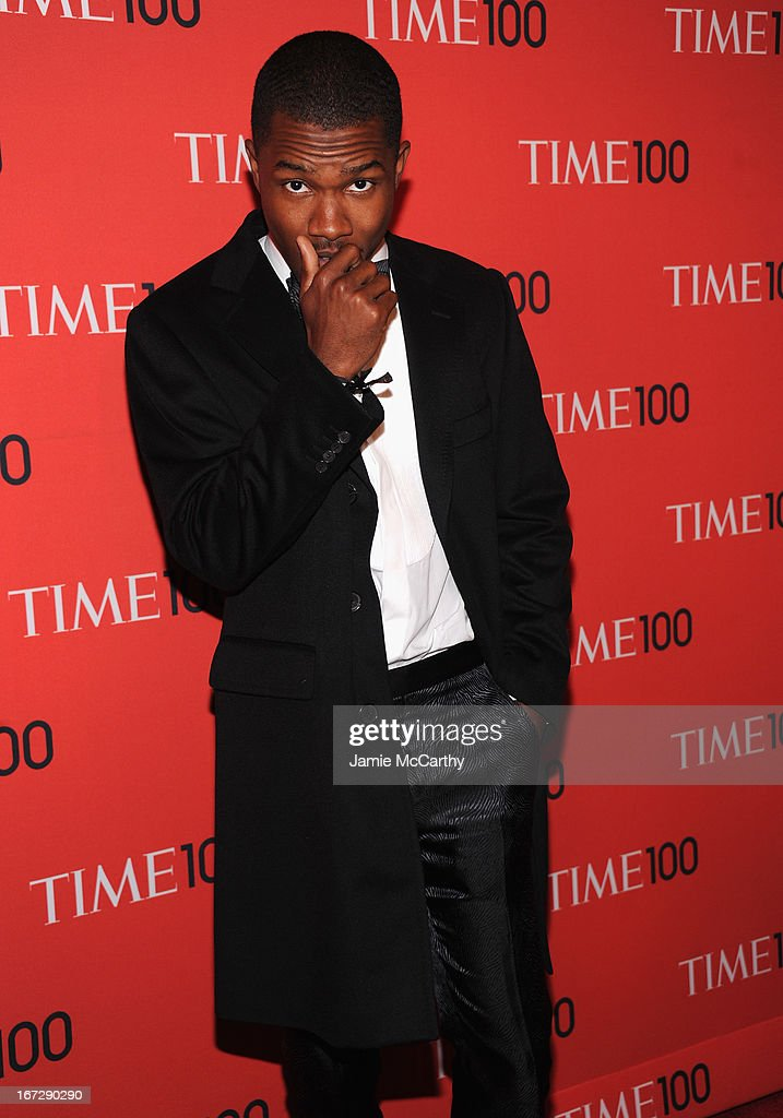 Singer-songwriter <a gi-track='captionPersonalityLinkClicked' href=/galleries/search?phrase=Frank+Ocean&family=editorial&specificpeople=7657747 ng-click='$event.stopPropagation()'>Frank Ocean</a> attends the 2013 Time 100 Gala at Frederick P. Rose Hall, Jazz at Lincoln Center on April 23, 2013 in New York City.