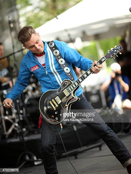 Singer/songwriter Frankie Ballard performs during the ACM Party For A Cause Festival at Globe Life Park in Arlington on April 18 2015 in Arlington...