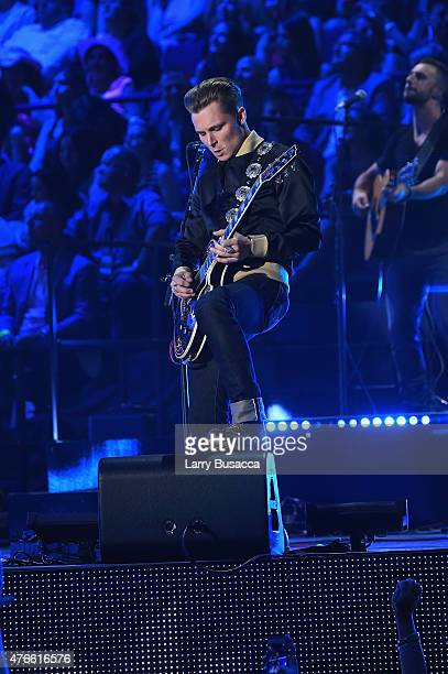 Singersongwriter Frankie Ballard performs onstage during the 2015 CMT Music awards at the Bridgestone Arena on June 10 2015 in Nashville Tennessee