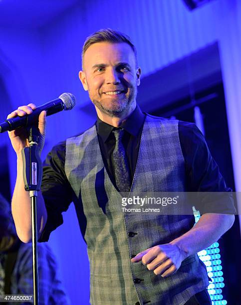 SingerSongwriter Gary Barlow performs a concert promoted from private radio station 'Radio Regenbogen' on February 24 2014 in Mannheim Germany 'Since...