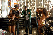 Singer/Songwriter Gavin DeGraw and Donald Faison on the set of the video for Chariot the title track from DeGraw's platinumselling debut album