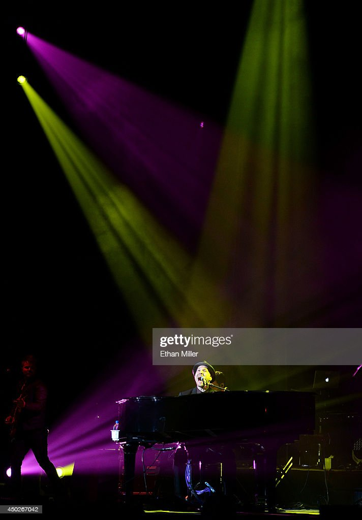 Singer/songwriter Gavin DeGraw performs as he opens for Billy Joel at the MGM Grand Garden Arena on June 7, 2014 in Las Vegas, Nevada.