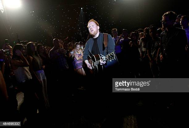 Singer/songwriter Gavin James performs onstage at American Express UNSTAGED Artists in Residence Concert with BORNS Gavin James Pia Mia and Rae...