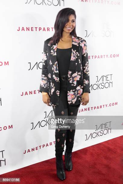 Singersongwriter Genevieve Jackson arrives for the Janet Jackson's State Of The World Tour After Party at Lure on October 8 2017 in Los Angeles...