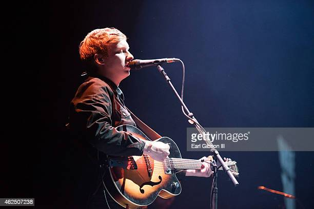 Singer/Songwriter George Ezra performs at The Forum on January 29 2015 in Inglewood California