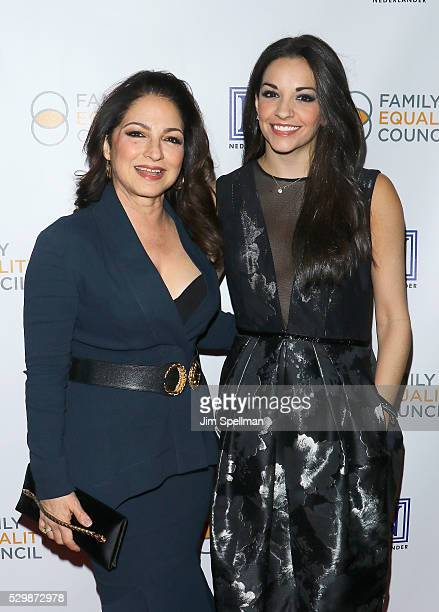 Singer/songwriter Gloria Estefan and actress Ana Villafane attend the 11th Annual Family Equality Council Night at the Pier at Pier 60 on May 9 2016...