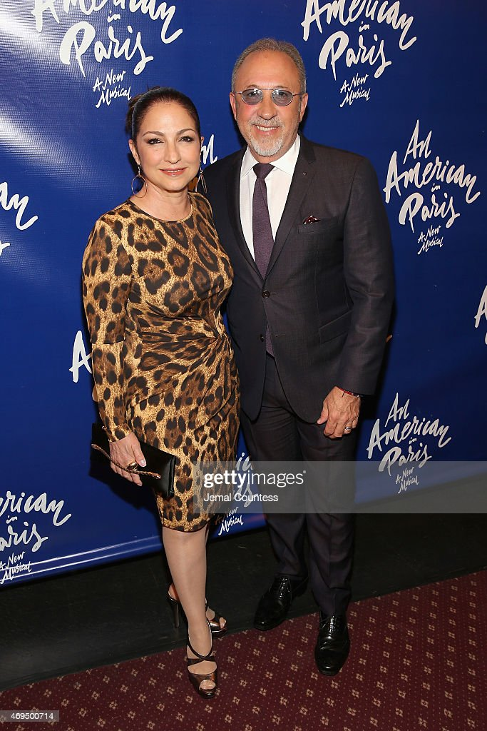Singer/songwriter Gloria Estefan and musician Emilio Estefan attend 'An American In Paris' Broadway opening night at Palace Theatre on April 12 2015...