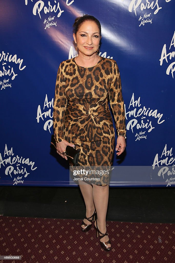 Singer/songwriter <a gi-track='captionPersonalityLinkClicked' href=/galleries/search?phrase=Gloria+Estefan&family=editorial&specificpeople=201703 ng-click='$event.stopPropagation()'>Gloria Estefan</a> attends 'An American In Paris' Broadway opening night at Palace Theatre on April 12, 2015 in New York City.