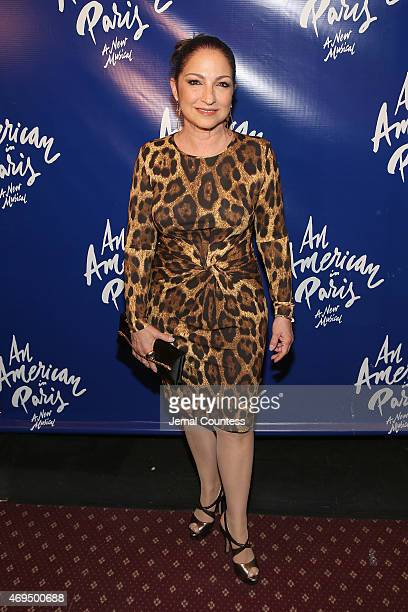 Singer/songwriter Gloria Estefan attends 'An American In Paris' Broadway opening night at Palace Theatre on April 12 2015 in New York City
