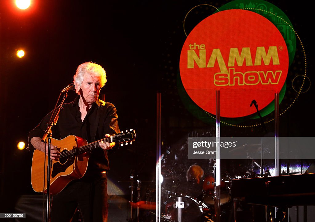 Singer-songwriter Graham Nash perfroms on stage at the 2016 NAMM Show Opening Day at the Anaheim Convention Center on January 21, 2016 in Anaheim, California.