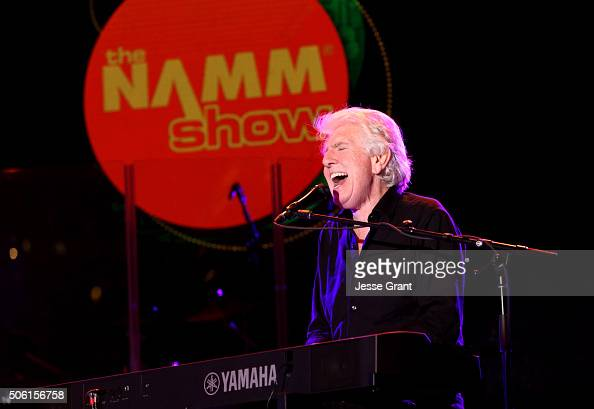 Singersongwriter Graham Nash perfroms on stage at the 2016 NAMM Show Opening Day at the Anaheim Convention Center on January 21 2016 in Anaheim...