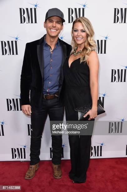 Singersongwriter Granger Smith and Amber Bartlett attend the 65th Annual BMI Country awards on November 7 2017 in Nashville Tennessee