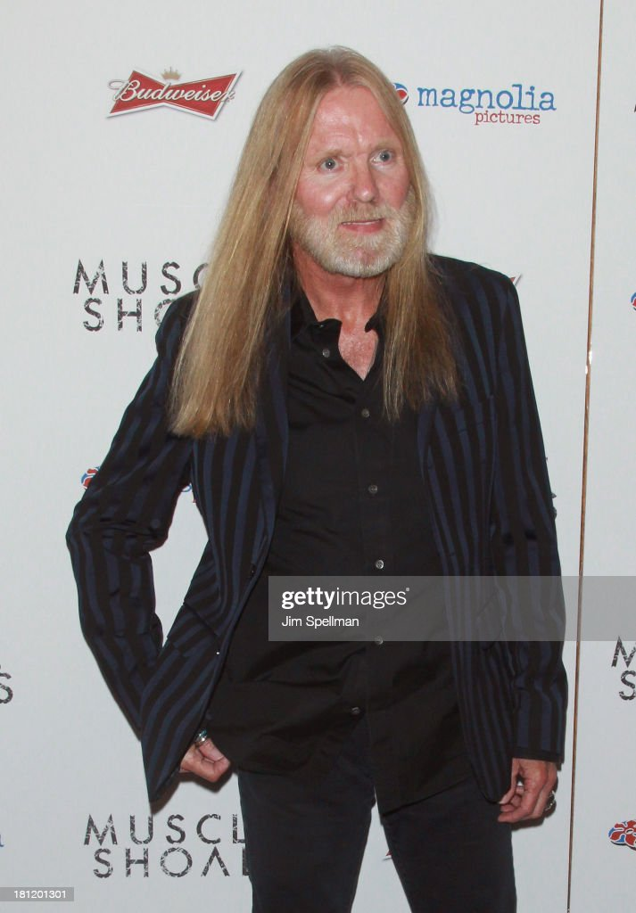 Singer/songwriter <a gi-track='captionPersonalityLinkClicked' href=/galleries/search?phrase=Gregg+Allman&family=editorial&specificpeople=741073 ng-click='$event.stopPropagation()'>Gregg Allman</a> attends the 'Muscle Shoals' New York Premiere at Landmark's Sunshine Cinema on September 19, 2013 in New York City.