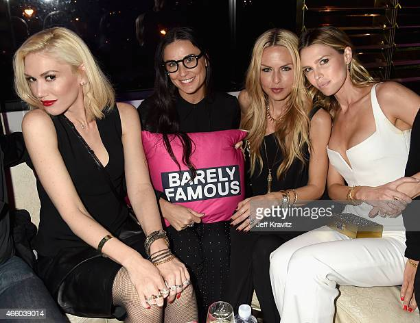 Singer/songwriter Gwen Stefani actress Demi Moore stylist Rachel Zoe and actress Sara Foster attend VH1's 'Barely Famous' premiere screening and...