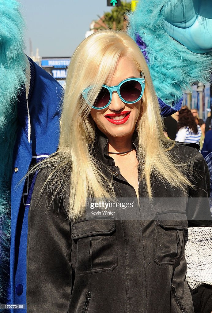 Singer/Songwriter <a gi-track='captionPersonalityLinkClicked' href=/galleries/search?phrase=Gwen+Stefani&family=editorial&specificpeople=156423 ng-click='$event.stopPropagation()'>Gwen Stefani</a> attends the Los Angeles premiere of Disney Pixar's 'Monsters University' at the El Capitan Theatre on June 17, 2013 in Hollywood, California.