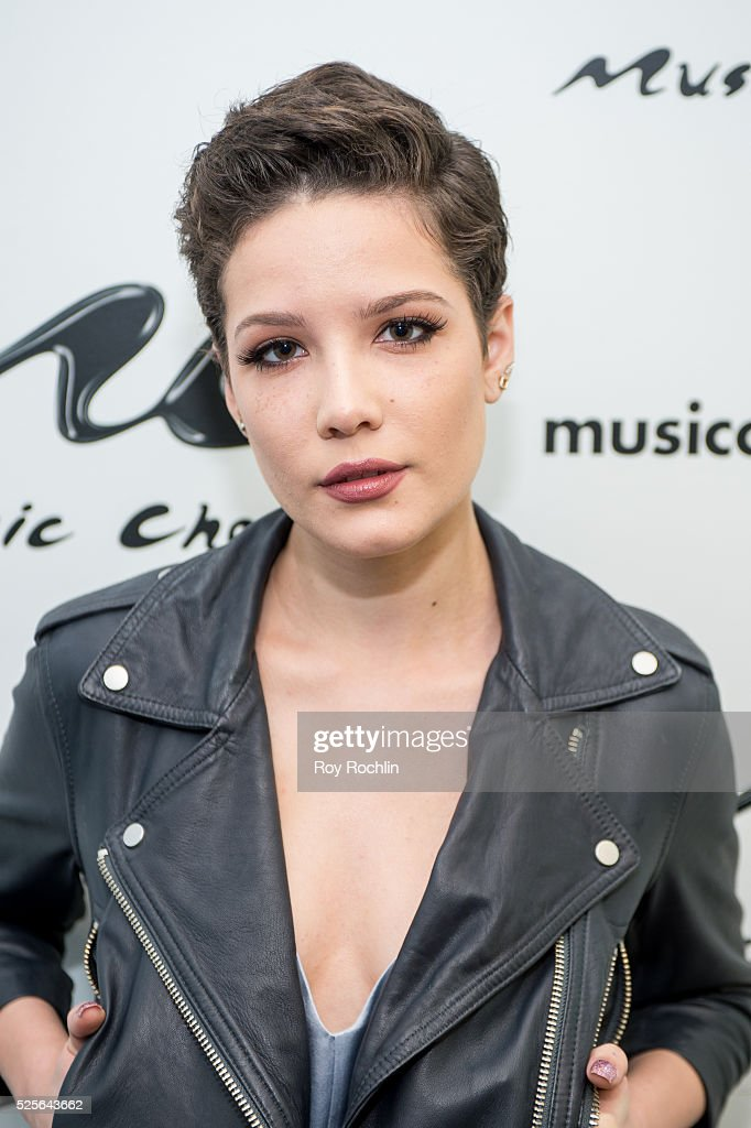 Singer/songwriter Halsey visits Music Choice on April 28, 2016 in New York City.