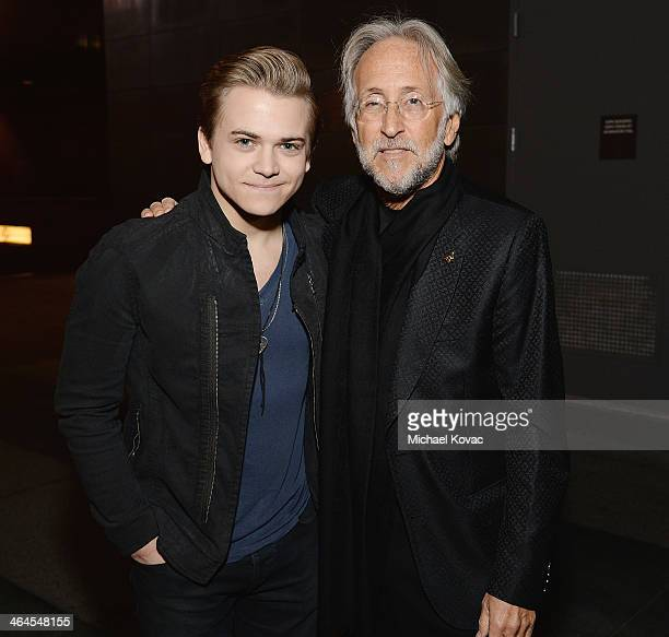 Singer/songwriter Hunter Hayes and President/CEO of The Recording Academy Neil Portnow pose outside An Evening With Lang Lang at The GRAMMY Museum on...