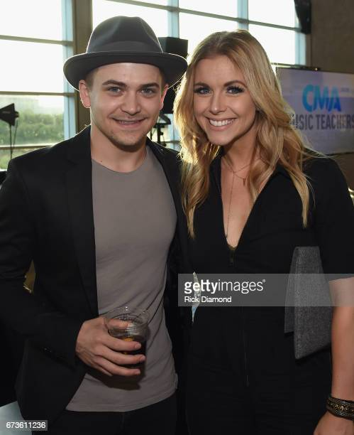 Singer/Songwriter Hunter Hayes and Singer/Songwriter Lindsay Ell attend 2017 CMA Music Teachers Of Excellence Dinner at Nissan Stadium on April 26...