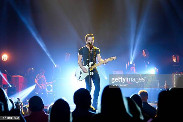 Singersongwriter Hunter Hayes performs live on stage at United Supermarkets Arena on May 01 2015 in Lubbock Texas