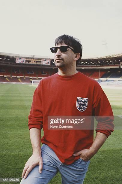 Singersongwriter Ian Broudie of English group The Lightning Seeds at Wembley Stadium London circa 1998