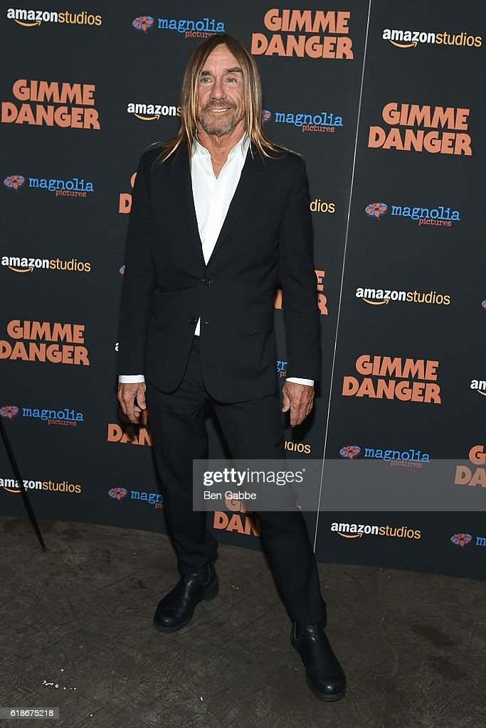 Singer-songwriter Iggy Pop attends the 'Gimme Danger' New York Premiere at Metrograph on October 27, 2016 in New York City.