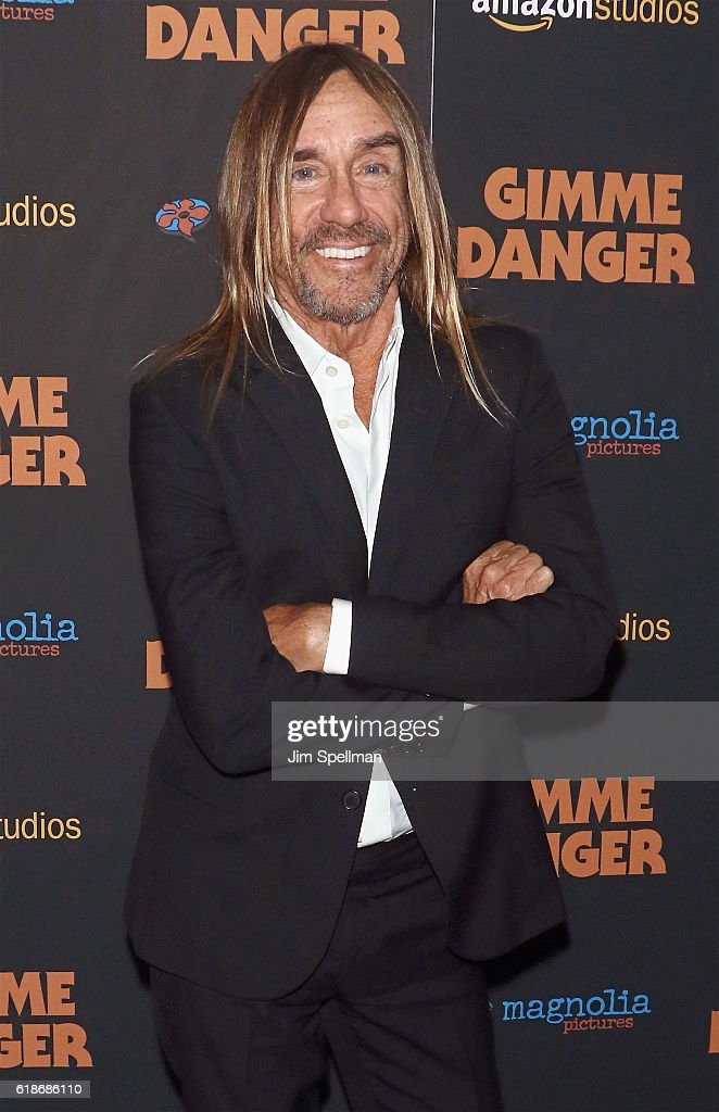Singer/songwriter Iggy Pop attends the 'Gimme Danger' New York premiere at Metrograph on October 27, 2016 in New York City.