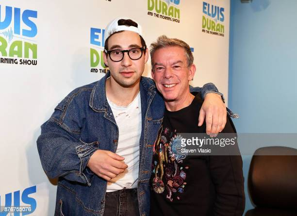 Singer/songwriter Jack Antonoff and Radio/TV personality Elvis Duran pose for photo at 'The Elvis Duran Z100 Morning Show' at Z100 Studio on November...