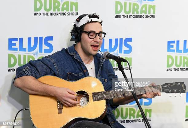 Singer/songwriter Jack Antonoff performs at 'The Elvis Duran Z100 Morning Show' at Z100 Studio on November 20 2017 in New York City