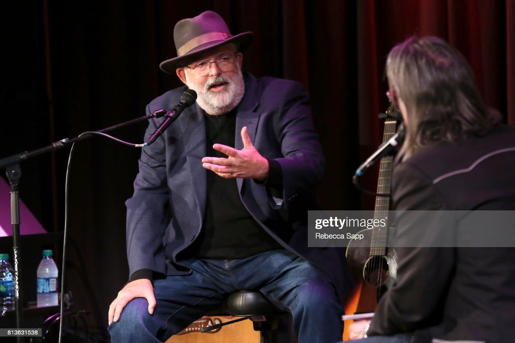 Singer/songwriter Jack Tempchin speaks with Executive Director of the GRAMMY Museum Scott Goldman at Peaceful Easy Feeling: An Evening With Jack Tempchin at The GRAMMY Museum on July 12, 2017 in Los Angeles, California.