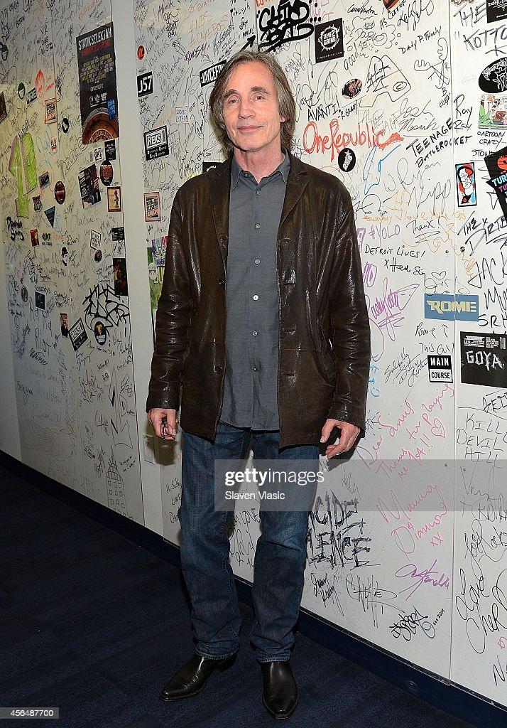 Singer/songwriter Jackson Browne visits SiriusXM Studios on October 1, 2014 in New York City.