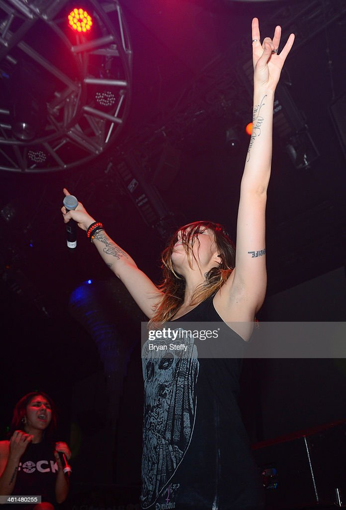 Singer/songwriter Jahan Yousaf of Krewella performs onstage a private party celebrating CES 2014 hosted by iHeartRadio featuring a live performance by Krewella at Haze Nightclub at the Aria Resort & Casino at CityCenter on January 8, 2014 in Las Vegas, Nevada.