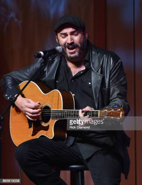 Singer/Songwriter James LeBlanc performs 'Modern Day Bonnie And Clyde' during 2017 Nashville Songwriters Hall Of Fame Awards at Music City Center on...