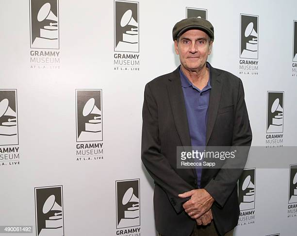 Singer/songwriter James Taylor attends An Evening With James Taylor at the GRAMMY Museum on September 25 2015 in Los Angeles California