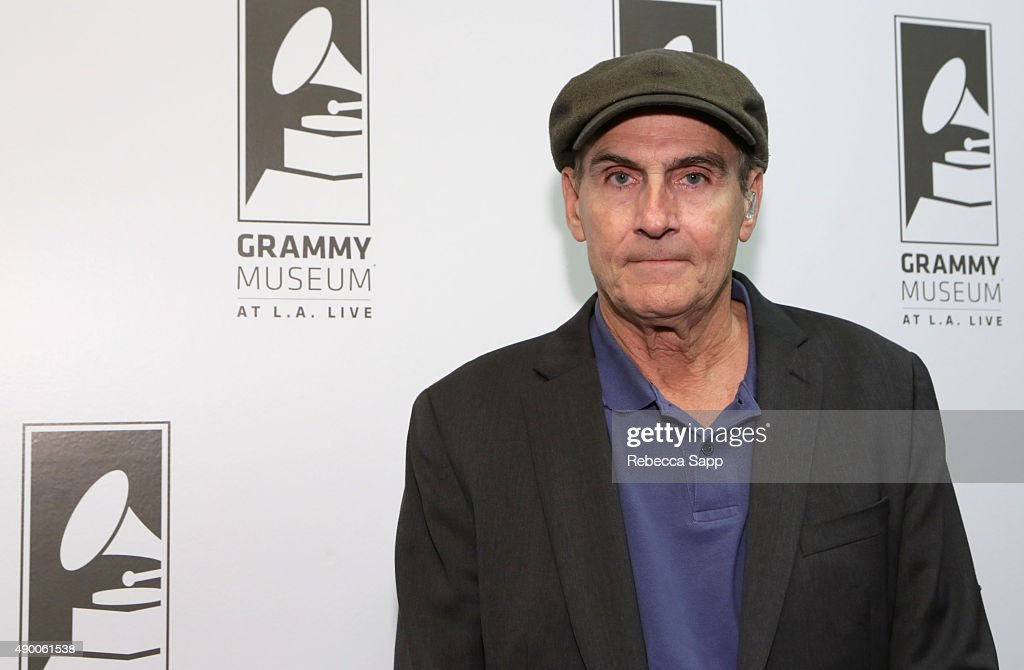 Singer/songwriter <a gi-track='captionPersonalityLinkClicked' href=/galleries/search?phrase=James+Taylor+-+Songwriter&family=editorial&specificpeople=206431 ng-click='$event.stopPropagation()'>James Taylor</a> attends An Evening With <a gi-track='captionPersonalityLinkClicked' href=/galleries/search?phrase=James+Taylor+-+Songwriter&family=editorial&specificpeople=206431 ng-click='$event.stopPropagation()'>James Taylor</a> at the GRAMMY Museum on September 25, 2015 in Los Angeles, California.
