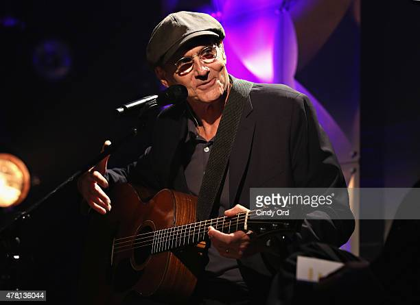 Singersongwriter James Taylor performs during iHeartRadio ICONS with James Taylor presented by PC Richard Son at iHeartRadio Theater on June 22 2015...