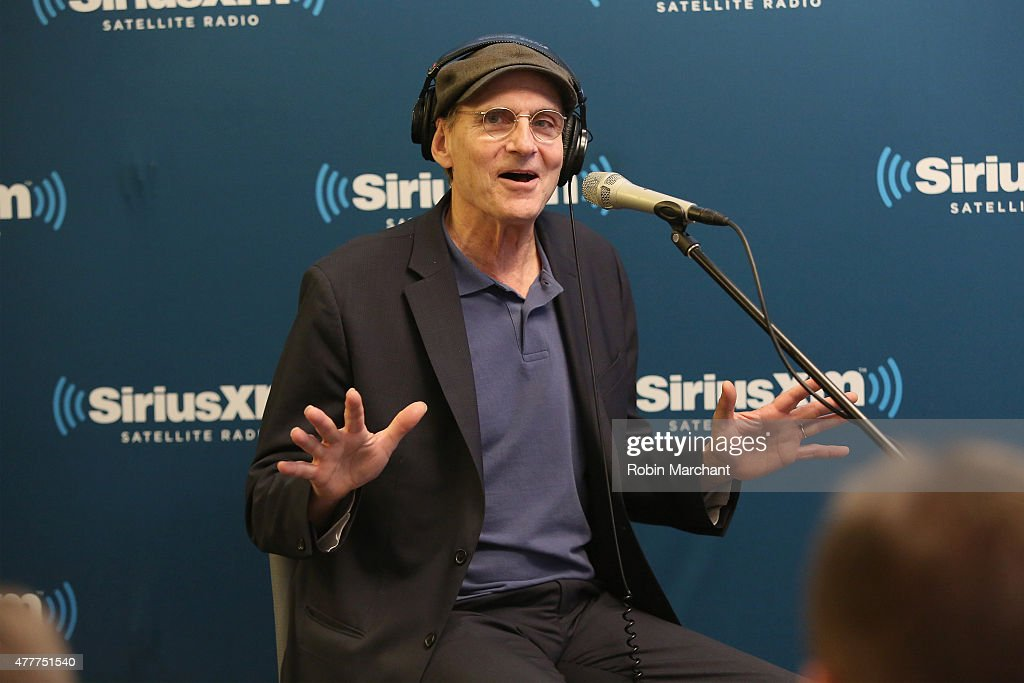 Singer-songwriter <a gi-track='captionPersonalityLinkClicked' href=/galleries/search?phrase=James+Taylor+-+Songwriter&family=editorial&specificpeople=206431 ng-click='$event.stopPropagation()'>James Taylor</a> speaks during SiriusXM's 'Town Hall' with <a gi-track='captionPersonalityLinkClicked' href=/galleries/search?phrase=James+Taylor+-+Songwriter&family=editorial&specificpeople=206431 ng-click='$event.stopPropagation()'>James Taylor</a> hosted by Bob Costas at SiriusXM Studio on June 19, 2015 in New York City.