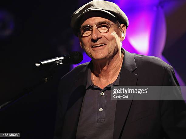 Singersongwriter James Taylor speaks onstage during iHeartRadio ICONS with James Taylor presented by PC Richard Son at iHeartRadio Theater on June 22...