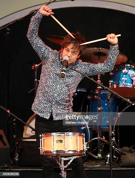 Singer/songwriter Jamie Cullum performs onstage at the 36th Anniversary Playboy Jazz Festival Day 1 at the Hollywood Bowl on June 14 2014 in...