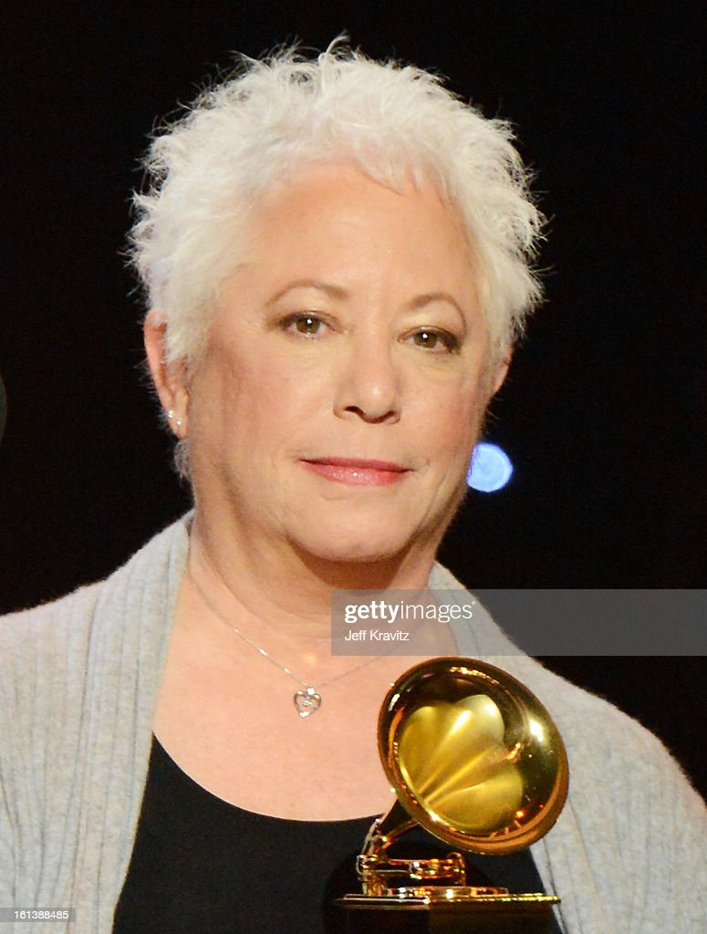 Singer/songwriter <a gi-track='captionPersonalityLinkClicked' href=/galleries/search?phrase=Janis+Ian&family=editorial&specificpeople=1153713 ng-click='$event.stopPropagation()'>Janis Ian</a> accepts an award onstage during the 55th Annual GRAMMY Awards at Nokia Theatre on February 10, 2013 in Los Angeles, California.
