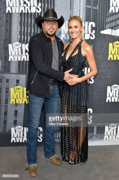 Singersongwriter Jason Aldean and Brittany Kerr attend the 2017 CMT Music Awards at the Music City Center on June 7 2017 in Nashville Tennessee