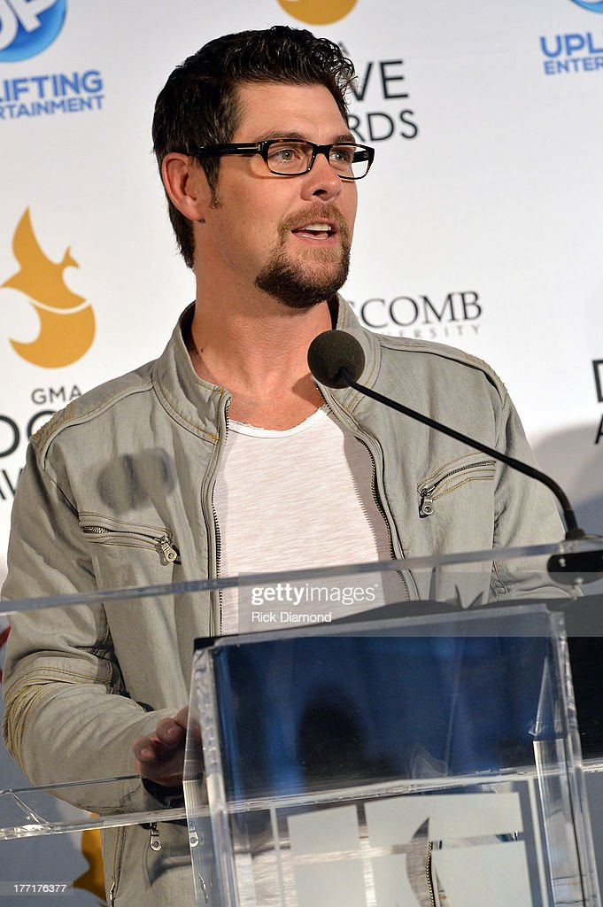 Singer/Songwriter Jason Crabb announces nominations for The 44th Annual GMA Dove Awards Nominations Press Conference at Allen Arena, Lipscomb University on August 21, 2013 in Nashville, Tennessee.