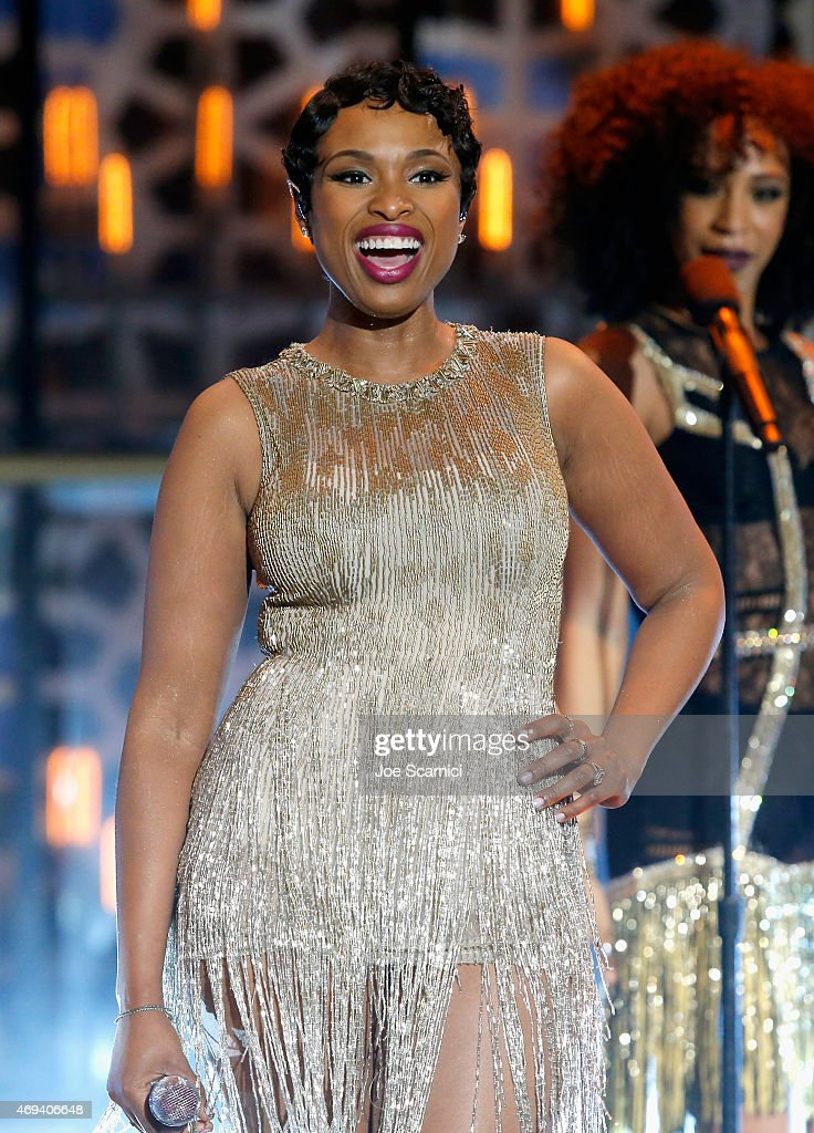Singersongwriter Jennifer Hudson performs onstage during the 2015 TV Land Awards at Saban Theatre on April 11 2015 in Beverly Hills California