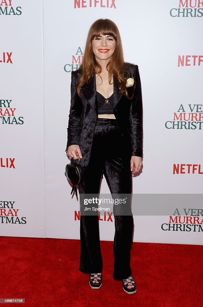 Singer/songwriter Jenny Lewis attends the 'A Very Murray Christmas' New York premiere at Paris Theater on December 2, 2015 in New York City.