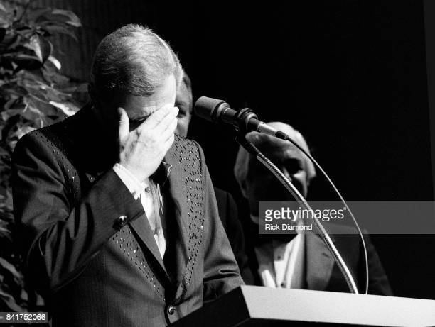 Singer/Songwriter Jerry Reed induction into The Georgia Music Hall of Fame at The Georgia World Congress Center in Atlanta Georgia September 19 1987