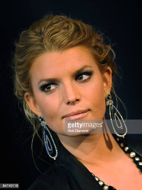 Singer/Songwriter Jessica Simpson attends the 44th annual Academy of Country Music Awards nominations announcement at the Country Music Hall of Fame...