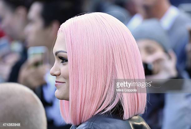 Singer/songwriter Jessie J hair detail performs on ABC's 'Good Morning America' at Rumsey Playfield Central Park on May 22 2015 in New York City