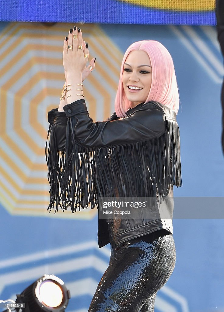 Singer/songwriter <a gi-track='captionPersonalityLinkClicked' href=/galleries/search?phrase=Jessie+J&family=editorial&specificpeople=5737661 ng-click='$event.stopPropagation()'>Jessie J</a> performs on On ABC's 'Good Morning America' at Rumsey Playfield, Central Park on May 22, 2015 in New York City.